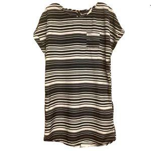 CASLON casual striped shift dress